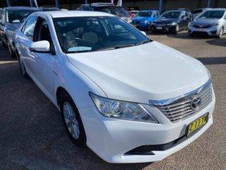 2014 Toyota Aurion GSV50R AT-X White 6 Speed Sports Automatic Sedan.