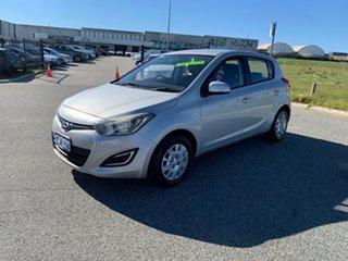 2013 Hyundai i20 PB MY14 Active Silver 6 Speed Manual Hatchback.