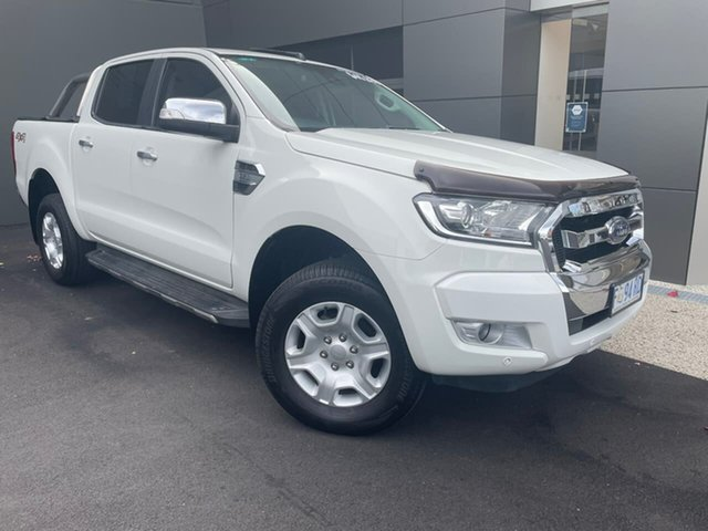 Used Ford Ranger PX MkII XLT Double Cab Hobart, 2016 Ford Ranger PX MkII XLT Double Cab White 6 Speed Sports Automatic Utility