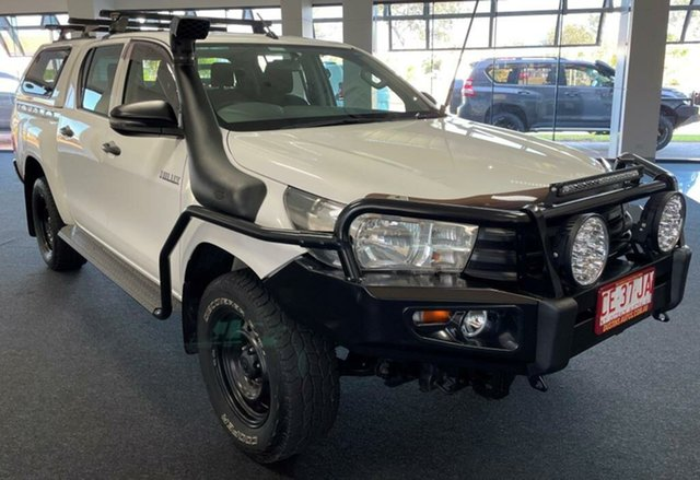 Used Toyota Hilux GUN125R Workmate Double Cab Winnellie, 2017 Toyota Hilux GUN125R Workmate Double Cab White 6 Speed Sports Automatic Utility