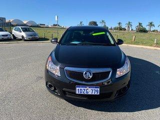 2012 Holden Cruze JH MY12 CD Black 5 Speed Manual Sedan.