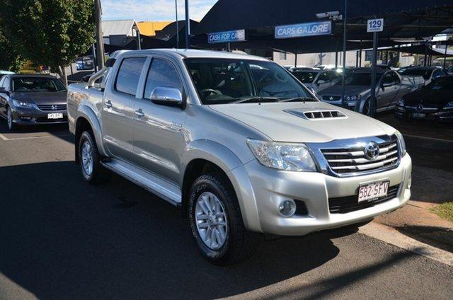 Used Toyota Hilux KUN26R MY12 SR5 (4x4) Toowoomba, 2012 Toyota Hilux KUN26R MY12 SR5 (4x4) Silver 4 Speed Automatic Dual Cab Pick-up
