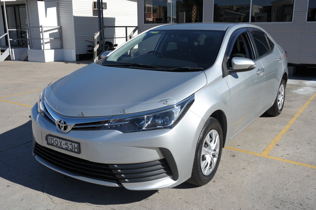Used Toyota Corolla ZRE172R Ascent Maryville, 2017 Toyota Corolla ZRE172R Ascent Silver 6 Speed Manual Sedan