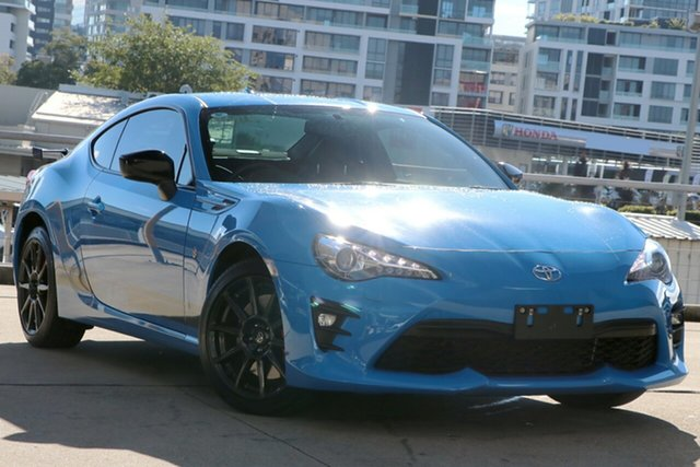 Used Toyota 86 ZN6 GTS Performance (Apollo Blue) Rosebery, 2019 Toyota 86 ZN6 GTS Performance (Apollo Blue) Blue 6 Speed Manual Coupe