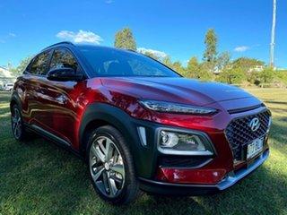 2017 Hyundai Kona OS MY18 Highlander 2WD Red 6 Speed Sports Automatic Wagon.