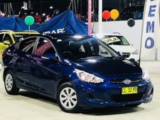 2017 Hyundai Accent RB4 MY17 Active Blue 6 Speed Constant Variable Sedan.