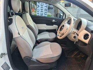 2017 Fiat 500 Series 4 Anniversario Dualogic White 5 Speed Sports Automatic Single Clutch Hatchback.