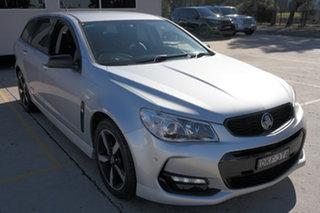 2016 Holden Commodore VF II MY16 SV6 Sportwagon Black Silver 6 Speed Sports Automatic Wagon.