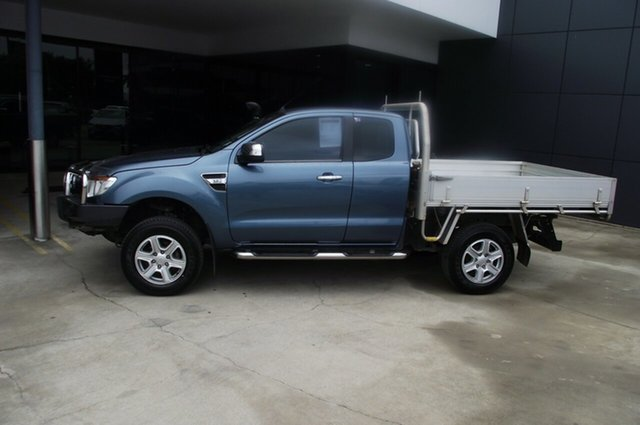 Used Ford Ranger PX XLT Super Cab North Rockhampton, 2013 Ford Ranger PX XLT Super Cab Blue 6 Speed Sports Automatic Utility