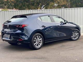 2021 Mazda 3 BP2H76 G20 SKYACTIV-MT Pure Deep Crystal Blue 6 Speed Manual Hatchback.