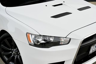 2013 Mitsubishi Lancer CJ MY13 Ralliart TC-SST White 6 Speed Sports Automatic Dual Clutch Sedan.