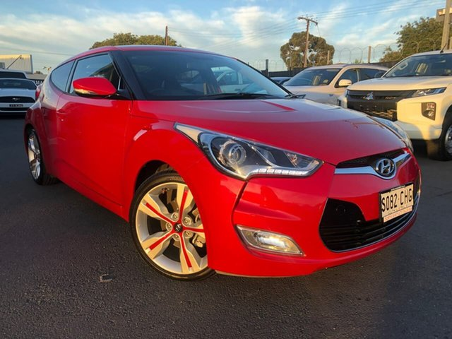 Used Hyundai Veloster FS3 + Coupe D-CT Hillcrest, 2014 Hyundai Veloster FS3 + Coupe D-CT Red 6 Speed Sports Automatic Dual Clutch Hatchback