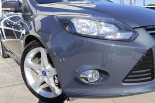 2014 Ford Focus LW MkII Titanium PwrShift Grey 6 Speed Sports Automatic Dual Clutch Hatchback.