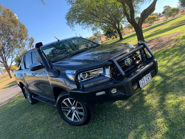 Used Toyota Hilux GUN126R SR5 Double Cab Moree, 2020 Toyota Hilux GUN126R SR5 Double Cab Graphite Grey 6 Speed Sports Automatic Utility
