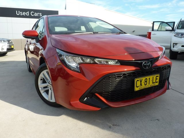 Pre-Owned Toyota Corolla Mzea12R Ascent Sport Blacktown, 2020 Toyota Corolla Mzea12R Ascent Sport Volcanic Red 10 Speed Constant Variable Hatchback