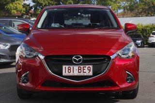 2017 Mazda 2 DL2SA6 GT SKYACTIV-MT Red 6 Speed Manual Sedan.