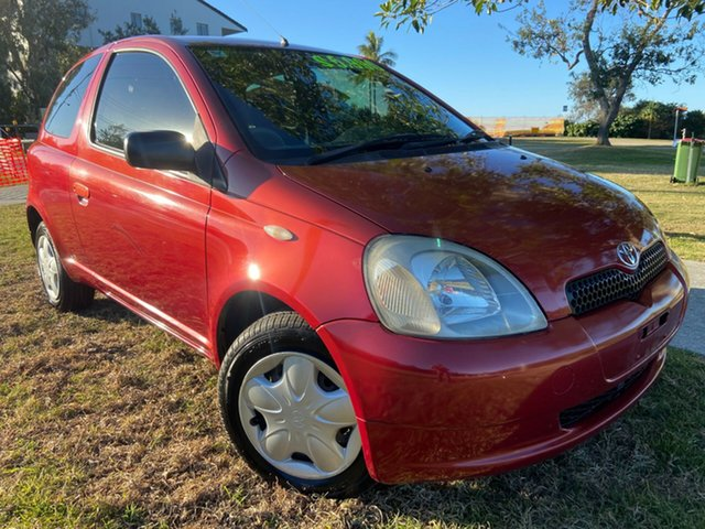 Used Toyota Echo NCP10R Tugun, 2002 Toyota Echo NCP10R Red 4 Speed Automatic Hatchback