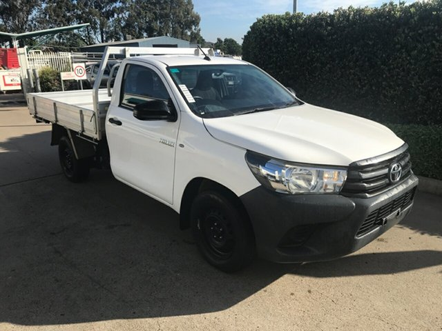 Used Toyota Hilux GUN122R Workmate 4x2 Acacia Ridge, 2016 Toyota Hilux GUN122R Workmate 4x2 Glacier 5 speed Manual Cab Chassis