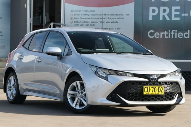 Pre-Owned Toyota Corolla Mzea12R Ascent Sport Guildford, 2019 Toyota Corolla Mzea12R Ascent Sport Silver Pearl 10 Speed Constant Variable Hatchback
