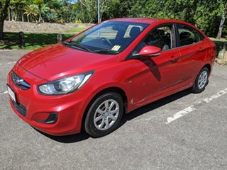 2012 Hyundai Accent RB Active Red 4 Speed Sports Automatic Sedan