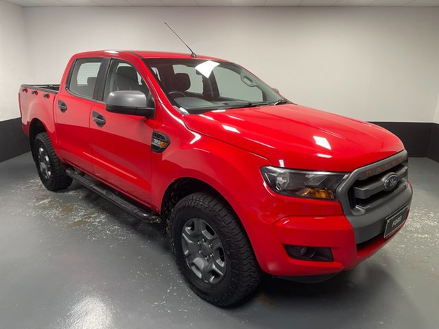 Used Ford Ranger PX MkII XLS Double Cab Hamilton, 2015 Ford Ranger PX MkII XLS Double Cab Red 6 Speed Sports Automatic Utility