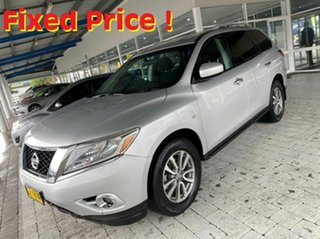 2013 Nissan Pathfinder ST Silver Constant Variable Wagon.