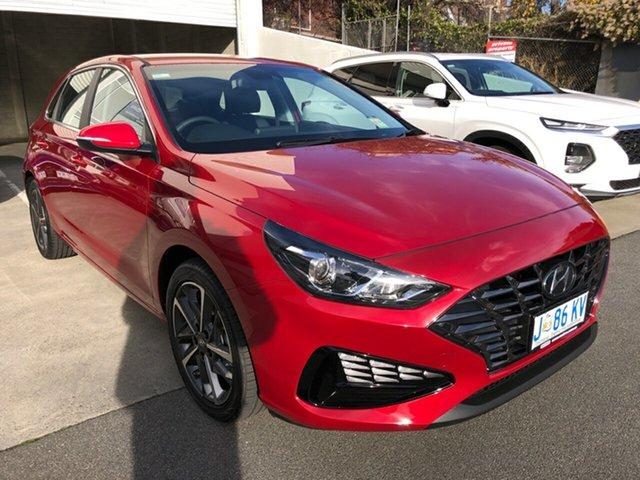 Demo Hyundai i30 PD.V4 MY21 Active Hobart, 2020 Hyundai i30 PD.V4 MY21 Active Fiery Red 6 Speed Sports Automatic Hatchback