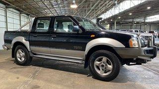 2003 Nissan Navara D22 MY2002 ST-R Black 5 Speed Manual Utility.