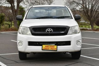 2010 Toyota Hilux GGN15R MY10 SR Xtra Cab 4x2 White 5 Speed Automatic Utility.