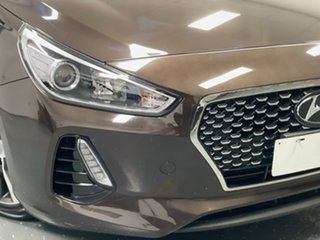 2017 Hyundai i30 PD MY18 Elite D-CT Demitasse Brown 7 Speed Sports Automatic Dual Clutch Hatchback.