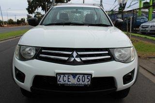 2012 Mitsubishi Triton MN MY13 GLX White 5 Speed Manual Cab Chassis.