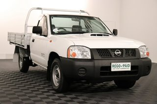 2009 Nissan Navara D22 MY2009 DX 4x2 White 5 speed Manual Cab Chassis.