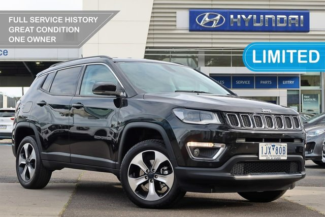 Used Jeep Compass M6 MY18 Limited South Melbourne, 2017 Jeep Compass M6 MY18 Limited Black 9 Speed Automatic Wagon