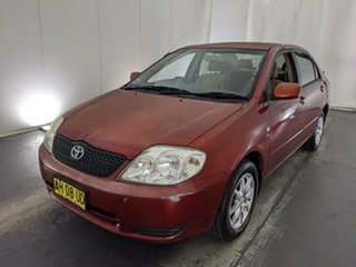 2002 Toyota Corolla ZZE122R Conquest Red 4 Speed Automatic Sedan.