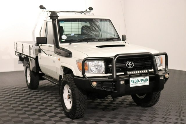 Used Toyota Landcruiser VDJ79R Workmate Acacia Ridge, 2016 Toyota Landcruiser VDJ79R Workmate French Vanilla 5 speed Manual Cab Chassis