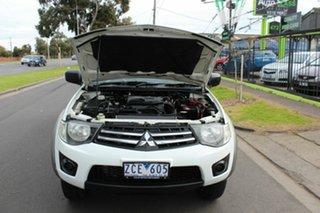 2012 Mitsubishi Triton MN MY13 GLX White 5 Speed Manual Cab Chassis