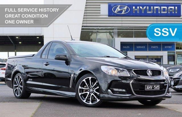 Used Holden Ute VF II MY16 SS V Ute South Melbourne, 2016 Holden Ute VF II MY16 SS V Ute Black 6 Speed Manual Utility