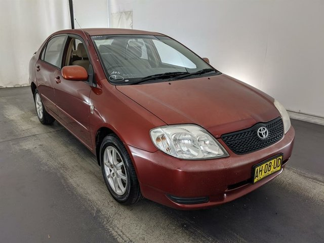 Used Toyota Corolla ZZE122R Conquest Maryville, 2002 Toyota Corolla ZZE122R Conquest Red 4 Speed Automatic Sedan