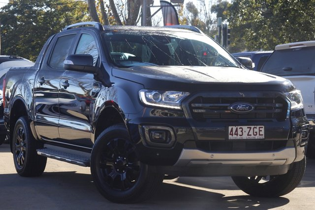Used Ford Ranger PX MkIII 2019.00MY Wildtrak Toowoomba, 2019 Ford Ranger PX MkIII 2019.00MY Wildtrak Black 10 Speed Sports Automatic Double Cab Pick Up