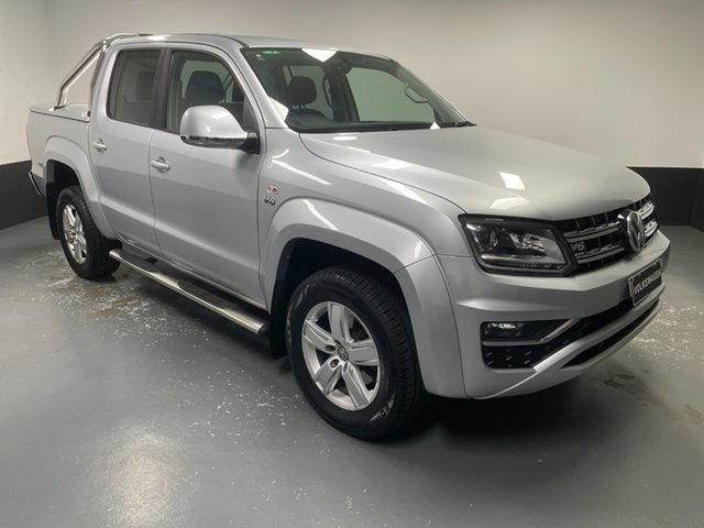 Used Volkswagen Amarok 2H MY18 TDI550 4MOTION Perm Highline Cardiff, 2018 Volkswagen Amarok 2H MY18 TDI550 4MOTION Perm Highline Silver 8 Speed Automatic Utility