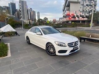 2016 Mercedes-Benz C-Class W205 807MY C250 7G-Tronic + White 7 Speed Sports Automatic Sedan.