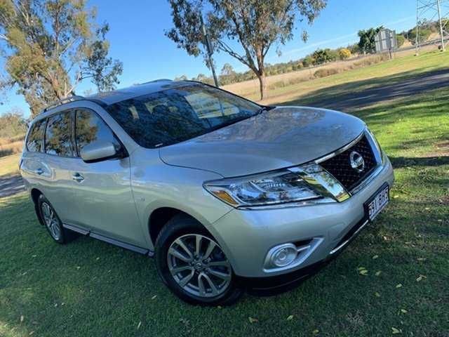 Used Nissan Pathfinder R52 MY14 ST X-tronic 2WD Moree, 2014 Nissan Pathfinder R52 MY14 ST X-tronic 2WD Brilliant Silver 1 Speed Constant Variable Wagon