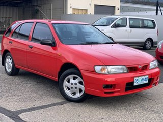 1997 Nissan Pulsar N15 LX Red 4 Speed Automatic Hatchback.