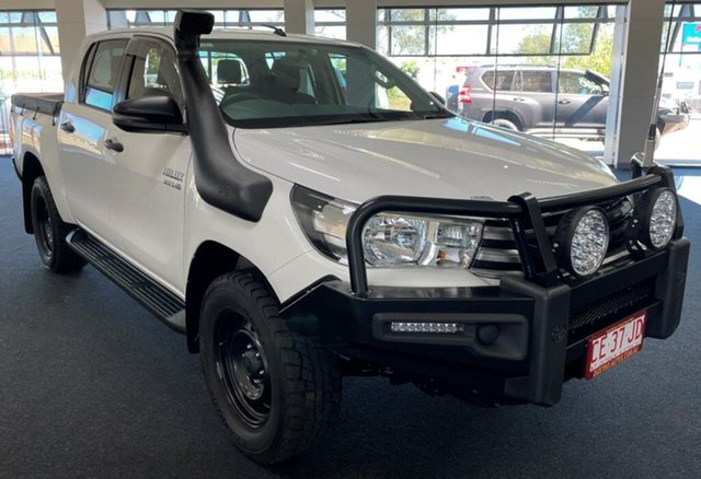 Used Toyota Hilux GUN126R SR Double Cab Winnellie, 2018 Toyota Hilux GUN126R SR Double Cab White 6 Speed Sports Automatic Utility