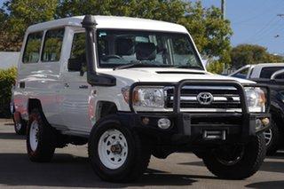 2014 Toyota Landcruiser VDJ78R GXL Troopcarrier White 5 Speed Manual Wagon.
