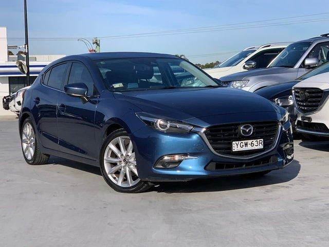 Used Mazda 3 BN5438 SP25 SKYACTIV-Drive GT Liverpool, 2016 Mazda 3 BN5438 SP25 SKYACTIV-Drive GT Blue 6 Speed Sports Automatic Hatchback