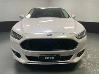 2015 Ford Mondeo MD Titanium White Platinum Tri-Coat 6 Speed Sports Automatic Dual Clutch Wagon.