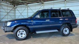 2003 Toyota Landcruiser UZJ100R GXL Blue 5 Speed Manual Wagon.