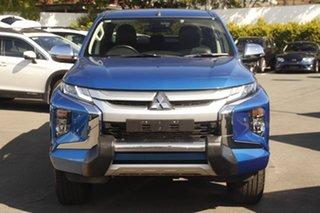 2018 Mitsubishi Triton MR MY19 GLS Double Cab Premium Blue 6 Speed Sports Automatic Utility.