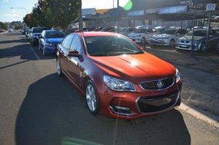 2015 Holden Commodore VF MY15 SV6 Orange 6 Speed Automatic Sedan.